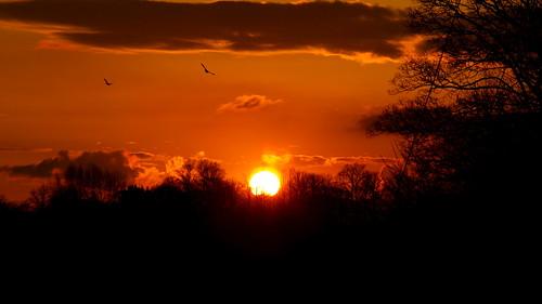 Sunset in Talybont