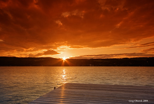 sunset sky sun lake ny clouds canon dock fingerlakes hdr cokin keukalake photomatix eos30d rubyphotographer