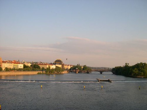 Praha - Vltava pohledu z Karlova mostu