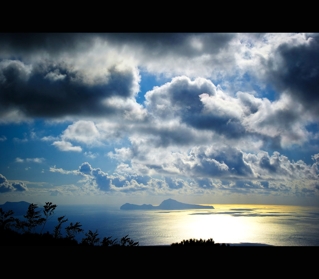 Capri viewed from the bottom of the Vesuvius
