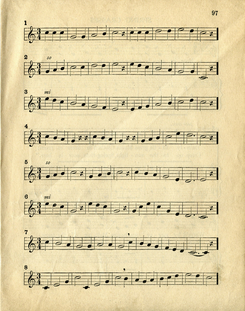 Vintage Sheet Music | You have permission to use these textu
