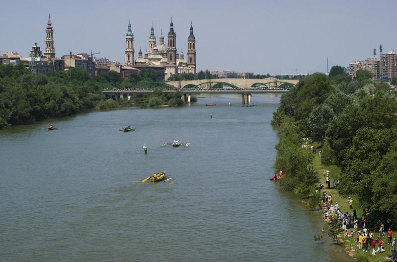 Traineras en Zaragoza