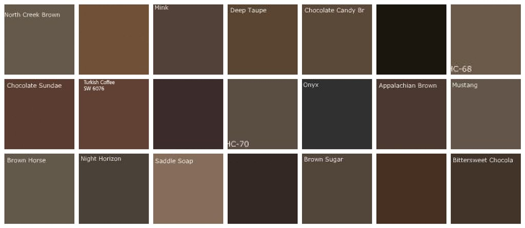 Dark Brown Paint Colors Designers Favorite Brands Colo Flickr