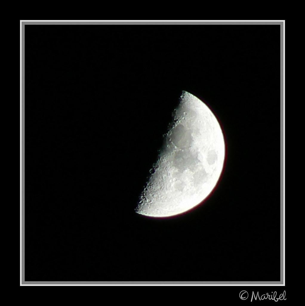 Cuarto creciente | Luna en Cuarto Creciente. 8-8-2008, 22:54… | Flickr