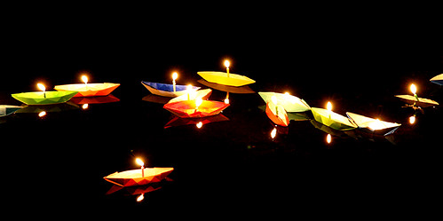 Japanese Origami Boats with Candles | by G K Weir