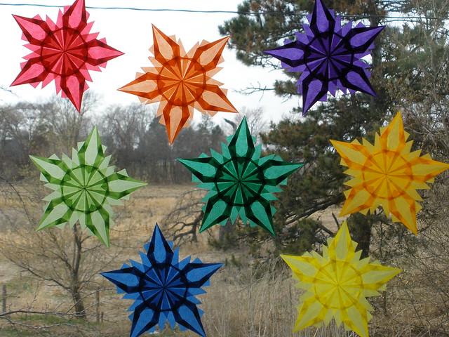 Rainbow of Window Stars - Learn the Color Wheel