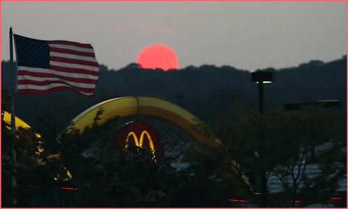 pink sunset flag mcdonalds arundelmills