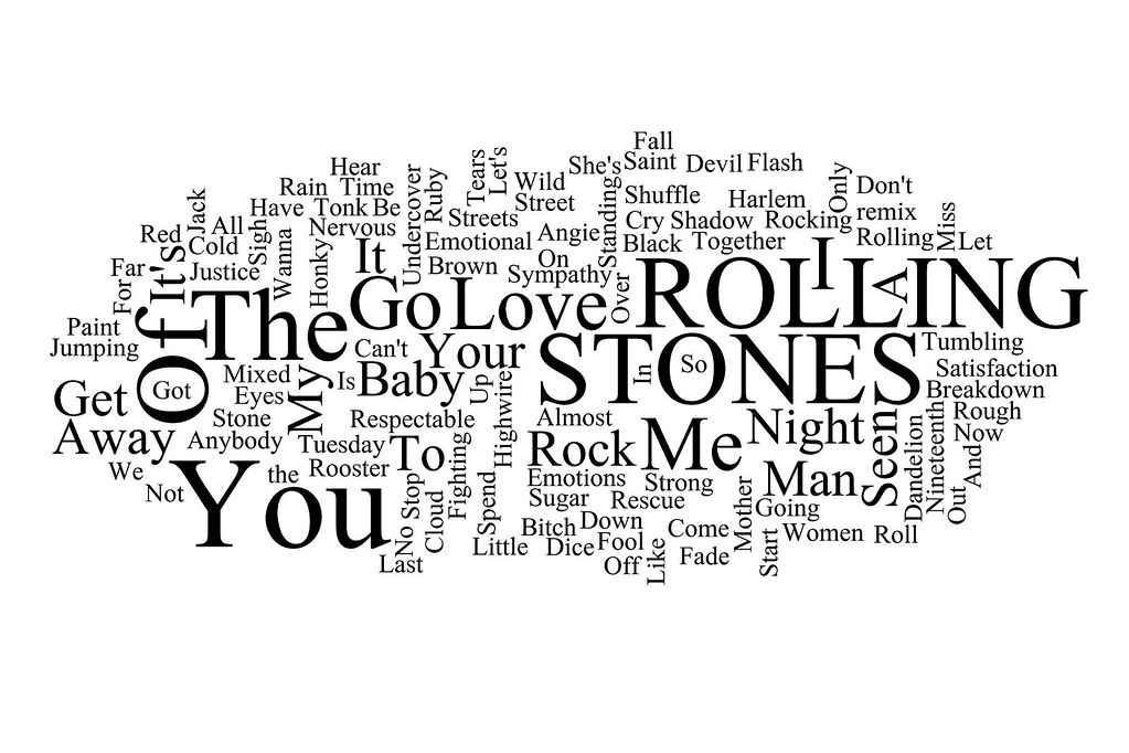 Word Cloud: Rolling Stones UK Hit Singles 1963 - 2005 | Flickr