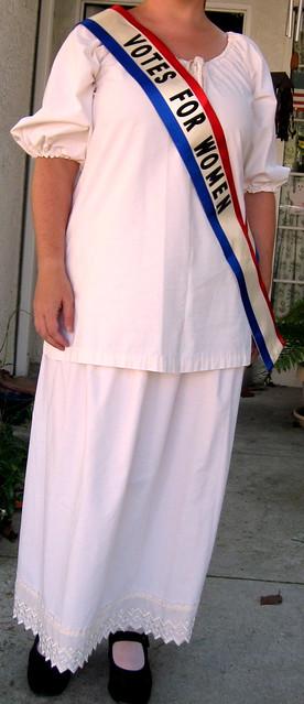Suffragette Costume (in progress)