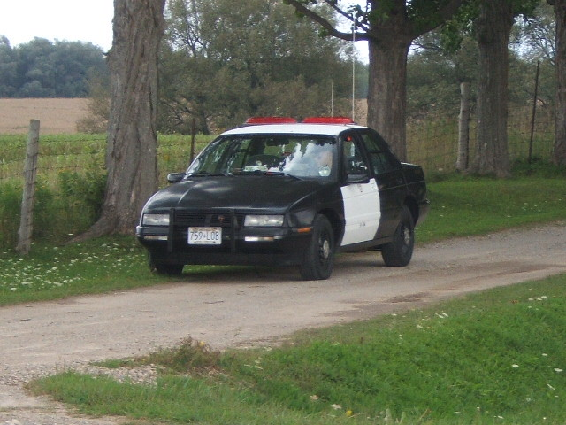Fake Police Car | At the end of a rural driveway, just north… | Flickr