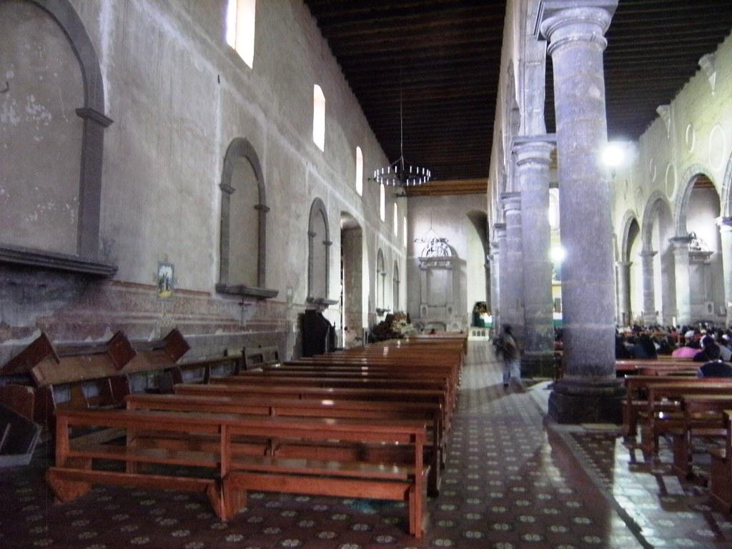 Interior del Ex Convento Franciscano de Zacatlán.
