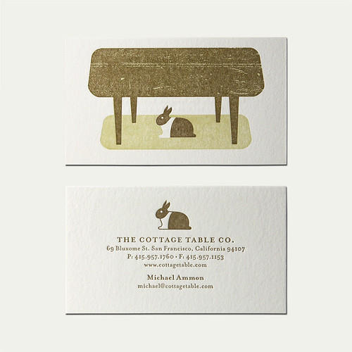 Cottage Table Business Card | by Cranky Pressman