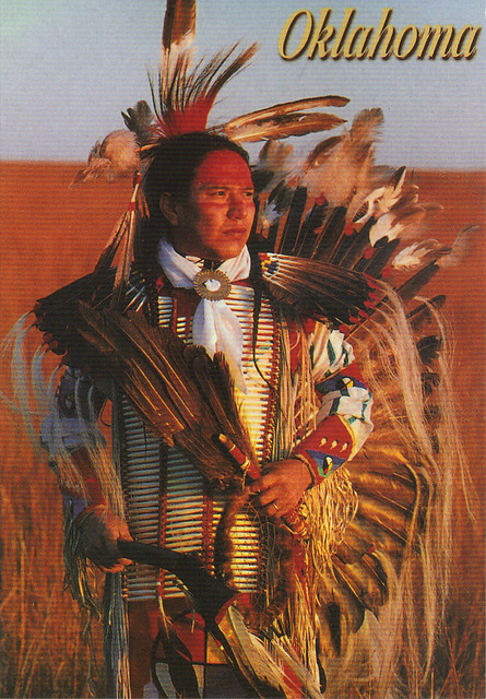 Oklahoma Damon Roughface Postcard