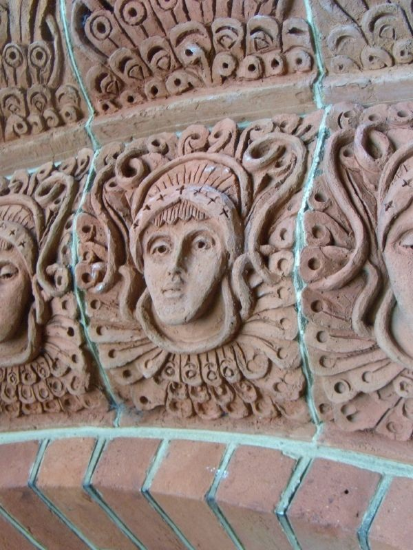 Clay face Watts' Chapel, Guildford Circular