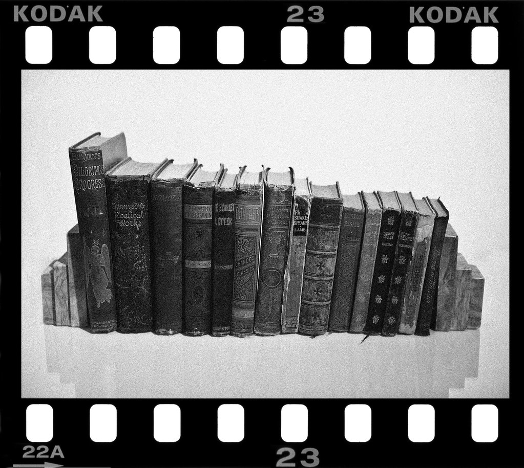 Books B&W 35mm Border Attempt | Just a little experiment at