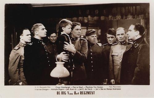 Frits van Dongen, Cruys Voorbergh, Matthieu van Eysden, Adolphe Engers, and Johan Kaart in De Big van het regiment (1935)