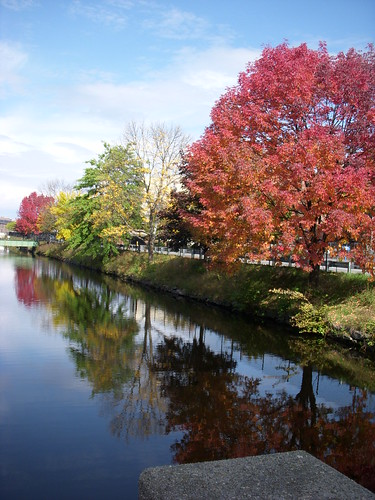 new autumn england reflection fall mill water landscape canal nikon maine coolpix lewiston s51 endland