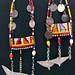 4251 Maasai Beaded traditional Earrings. Kenya