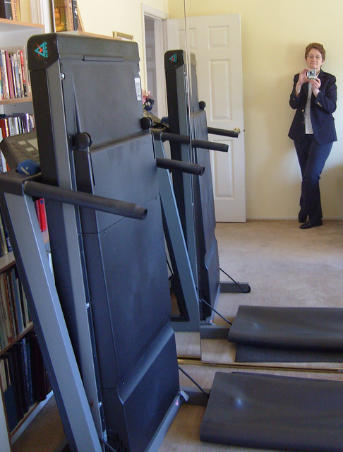 Out with the Old (Treadmill - not me...)