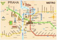 Prague Subway Mapinfo.Prague Metro Map Postcard Kotarana Flickr