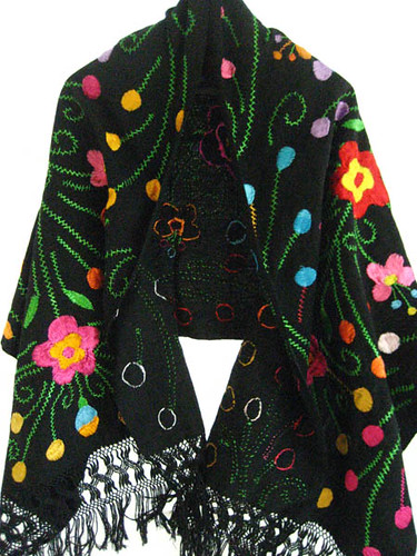 Mexican Rebozo Silk Embroidered Amazing work! | Mexican Rebo