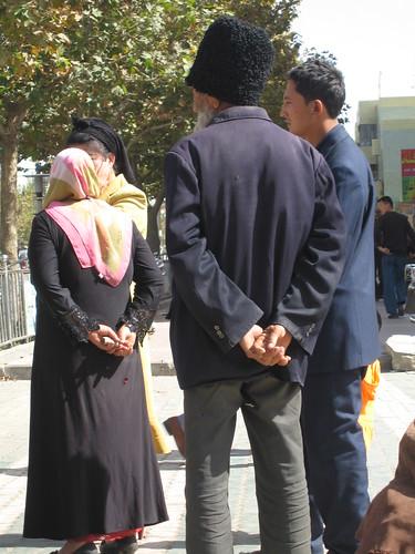 Uighurs at Karghilik bazaar | by Mary Loosemore