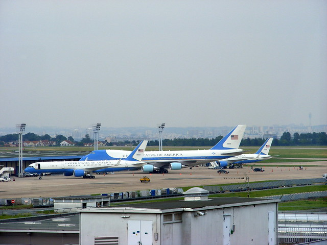 Air Force One and Air Force Two at Paris Orly