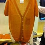 V领拼蕾丝针织开衫