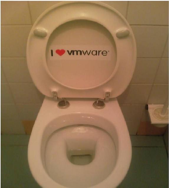 My toilet loves VMware