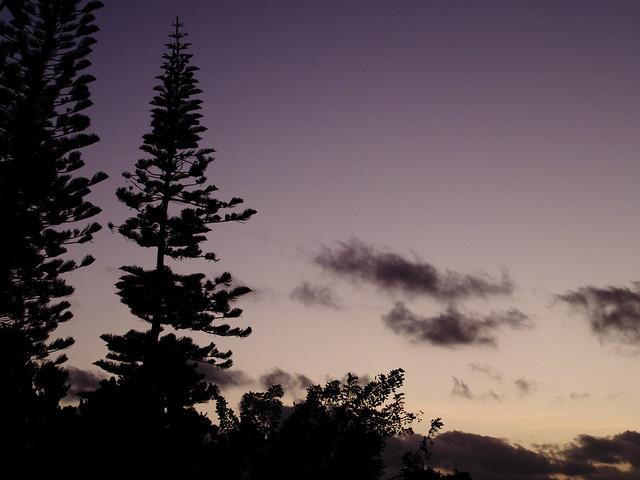 Sunset on Nouméa