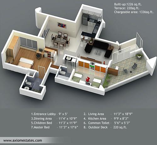 Pune Properties - Real Estate India - Vilas Palash Floorpl ...