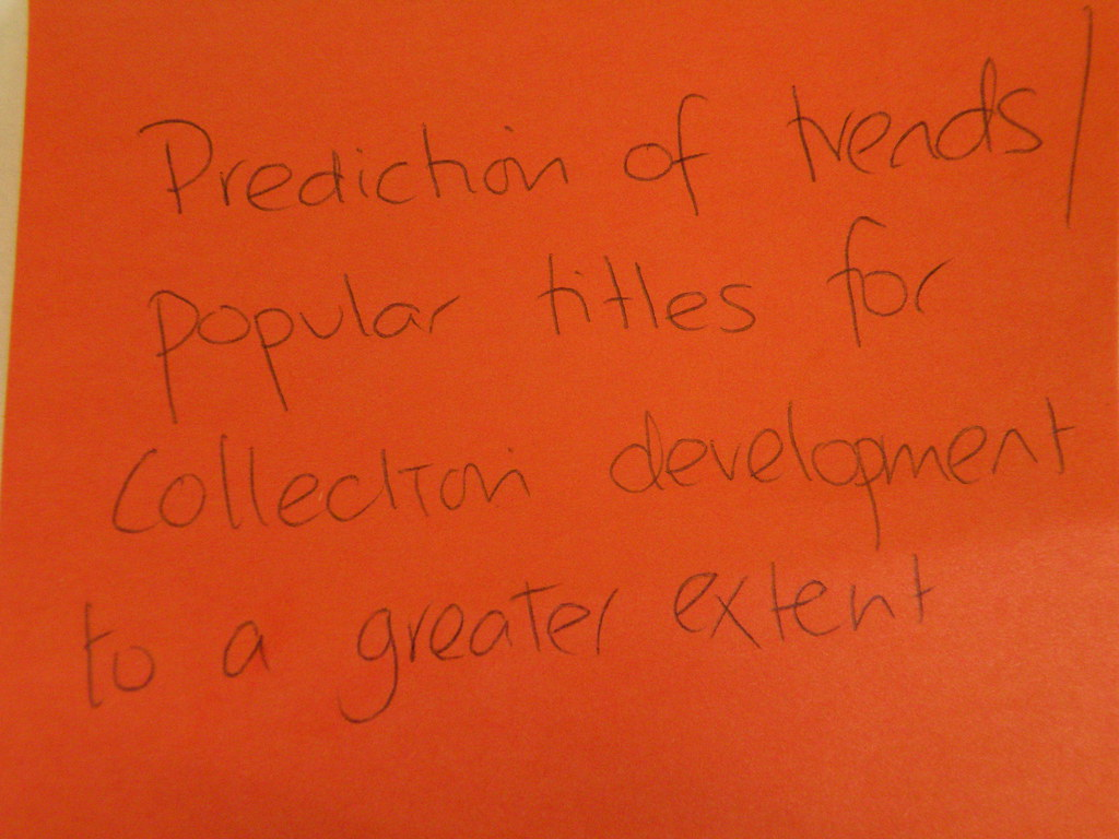 Prediction of trends/popular titles for collection development to a greater extent