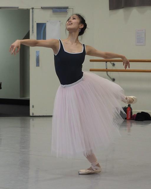Ako Kondo - Australian Prima Ballerina rehearsing for