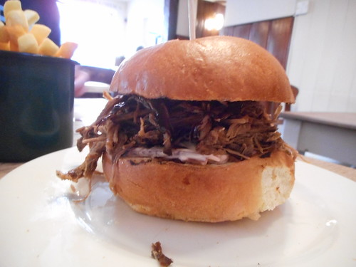 Smoked beef brisket in a brioche bun | by rjw1