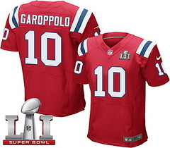 Nike Patriots #10 Jimmy Garoppolo Red Alternate Super Bowl LI 51 Men's Stitched NFL Elite Jersey