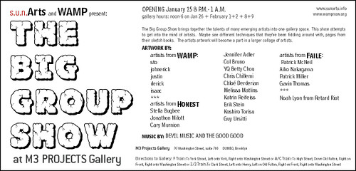 s.u.n.Arts and WAMP present: *THE*BIG*GROUP*SHOW* (2003) | by GHAVA