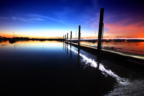 blue sunset red sea lightpainting dan canon river photography eos stream jetty calm explore bennett tourch 84 danbennett