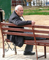 Man on Bench | by aouniat