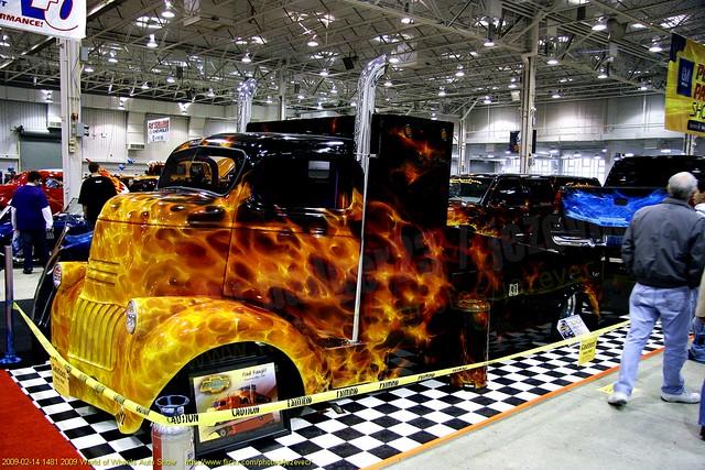 1941 COE Customized Chevrolet truck 2009-02-14 1481 2009 World of Wheels Auto Show