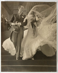 Musical stars Madge Elliott and Cyril Ritchard's wedding, St Mary's Cathedral, Sydney, 16 September 1935 / photograph by Sam Hood