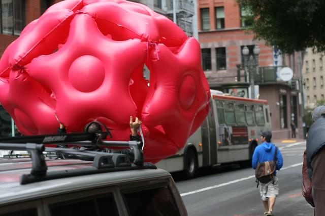 Bushwaffle Ball carried through City