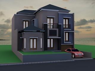 rumah tinggal 2,5 lantai citra grand   desain rumah