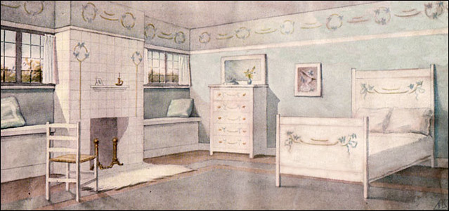 1911 Blue Bedroom   Ladies Home Journal | One Of Four Images ...