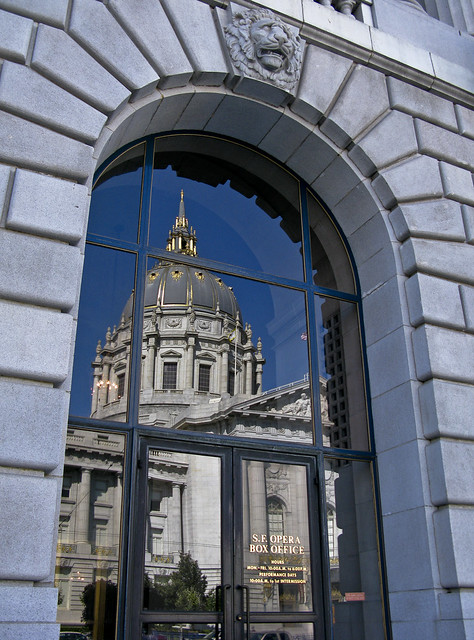 Reflecting on City Hall - don't fight it, shoot it!