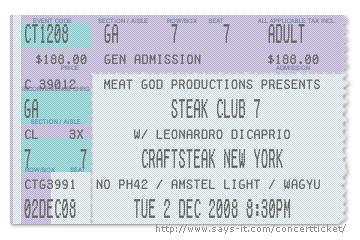 craftsteak new york steak club 7 ticket | by steakclubseven