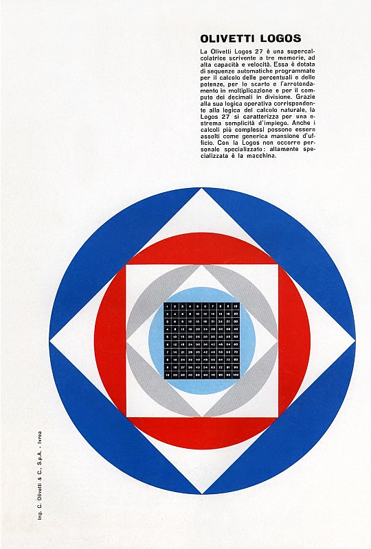 Olivetti Logos Advertisement   designed by Giovanni Pintori
