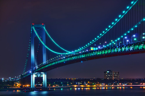 nyc newyorkcity longexposure bridge ny newyork reflection brooklyn night geotagged lights nikon exposure view nocturnal suspension license statenisland hdr narrows gettyimages d300 verrazano verrazanonarrows mudpig harborentrance stevekelley verrazaonnarrows stevenkelley licensenow