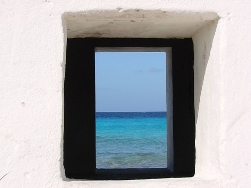 blue sea white window nature caribbean bonaire antilles dutchantilles