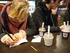 drawing, listening
