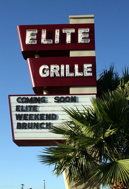 elite grille neon sign